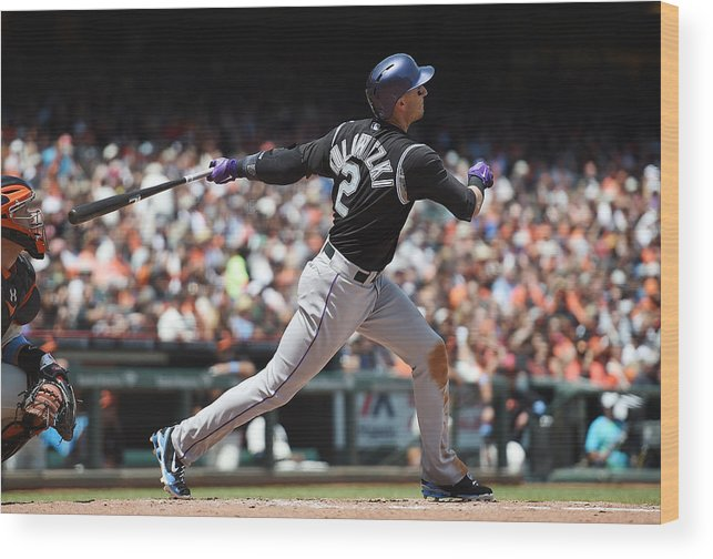 San Francisco Wood Print featuring the photograph Troy Tulowitzki by Thearon W. Henderson