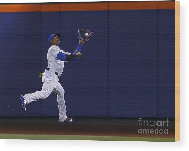 Yoenis Cespedes Wood Print featuring the photograph Yoenis Cespedes and Peter Bourjos by Rich Schultz
