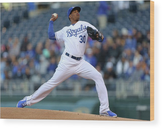 People Wood Print featuring the photograph Yordano Ventura by Ed Zurga