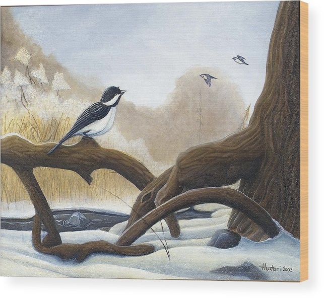 Rick Huotari Wood Print featuring the painting Where are you going by Rick Huotari