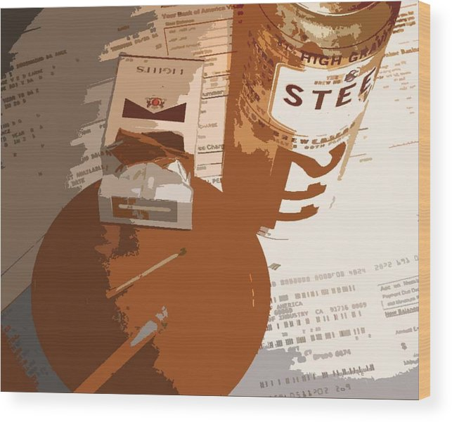 Credit Wood Print featuring the photograph Steel Reserve by Jennifer Ott