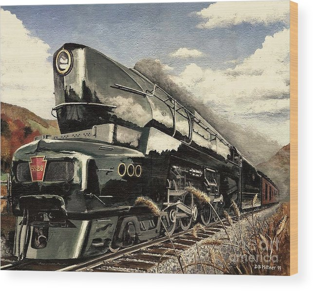 Pennsylvania Railroad Wood Print featuring the painting Showin Off by David Mittner