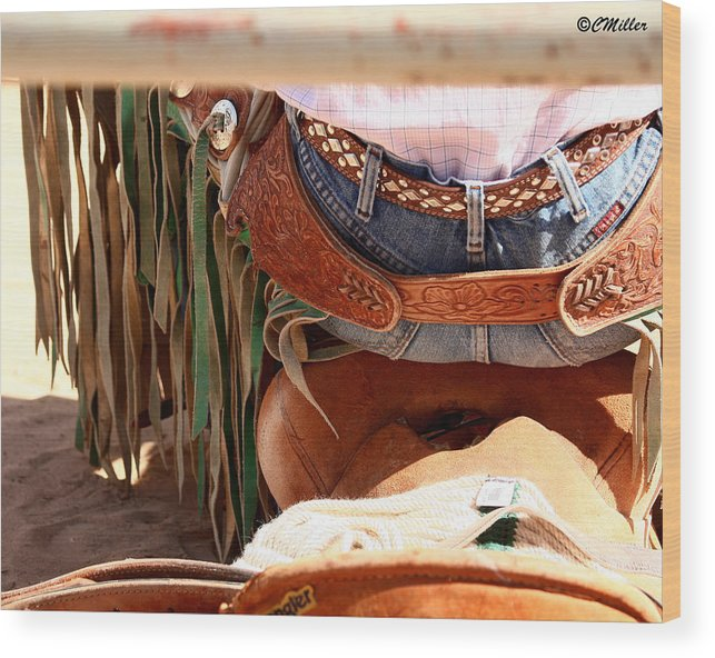 Rodeo Wood Print featuring the photograph Untitled 6 by Carol Miller