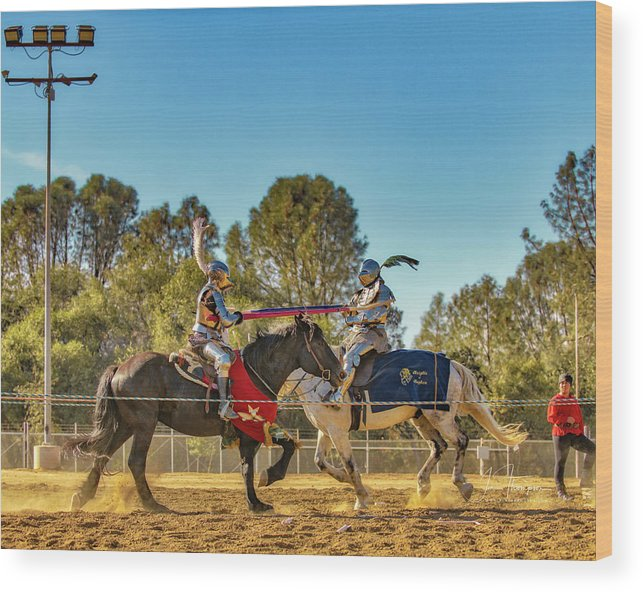 Equine Wood Print featuring the photograph Knights Of Mayhem 05 by Jim Thompson