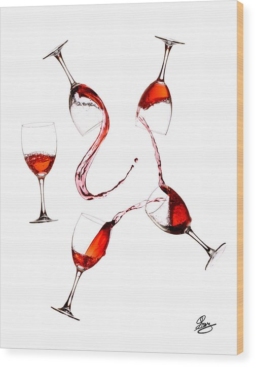 Drink Wood Print featuring the photograph Social Drinker by Gary Scott