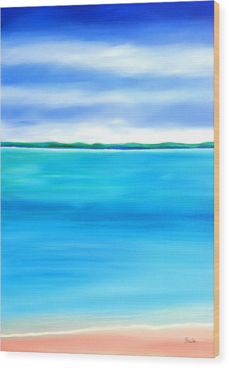 Caribbean Wood Print featuring the painting Sea Shallow by Sula Chance