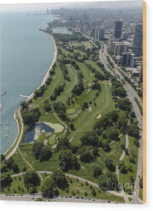 Sydney R. Marovitz Golf Course Wood Print featuring the photograph Sydney R. Marovitz Golf Course by David Oppenheimer