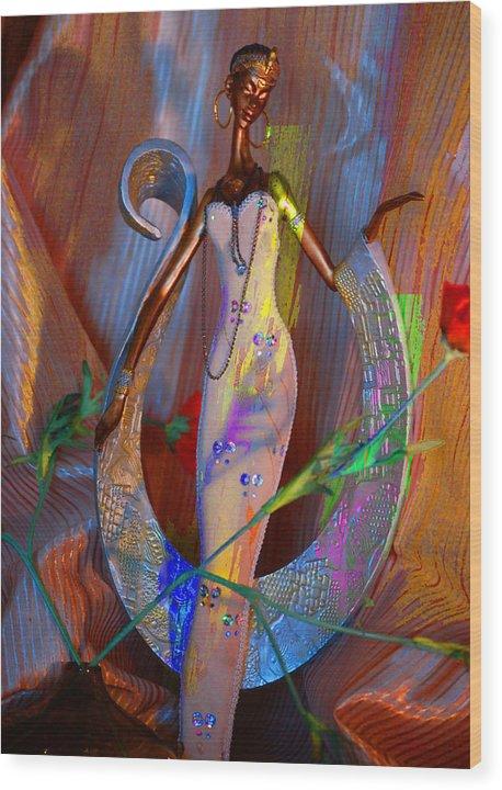 Wood Print featuring the digital art Tribal Evocative by Danielle Stephenson