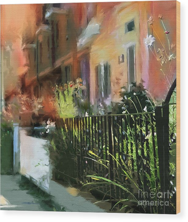 Toronto Wood Print featuring the painting Kensington Market District T.o. by Bob Salo