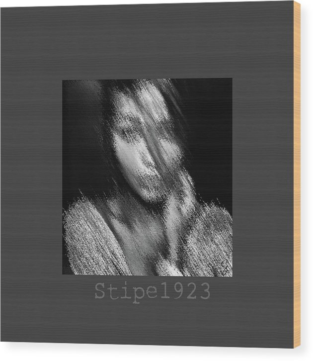 Black And White Wood Print featuring the photograph Since 1923 by Stipe Art