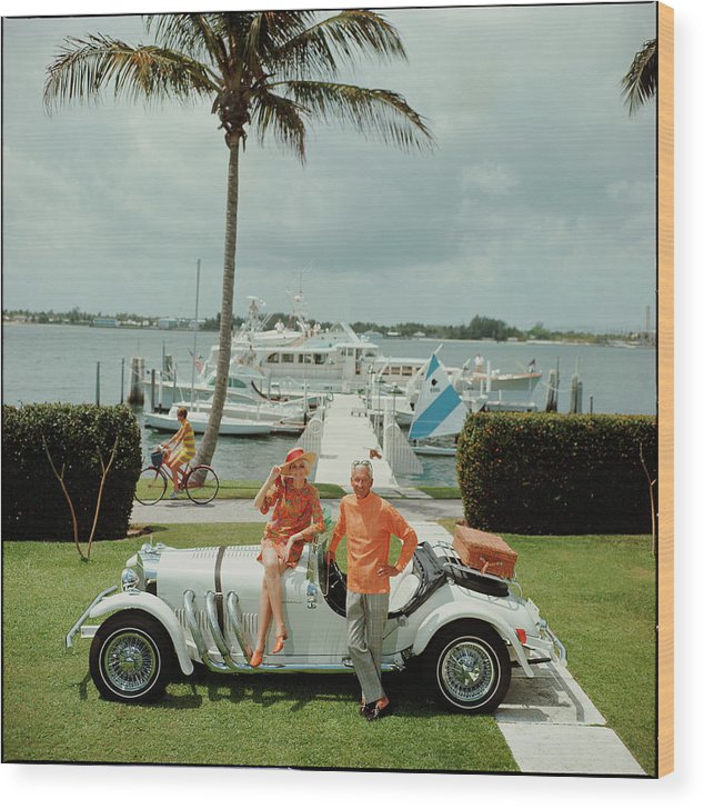 People Wood Print featuring the photograph All Mine by Slim Aarons