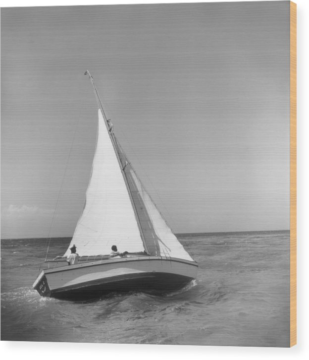 1950-1959 Wood Print featuring the photograph Jamaica Sea Sailing by Slim Aarons