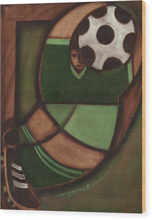 Soccer Wood Print featuring the painting Tommervik Best Soccer Goalie In The World Art by Tommervik