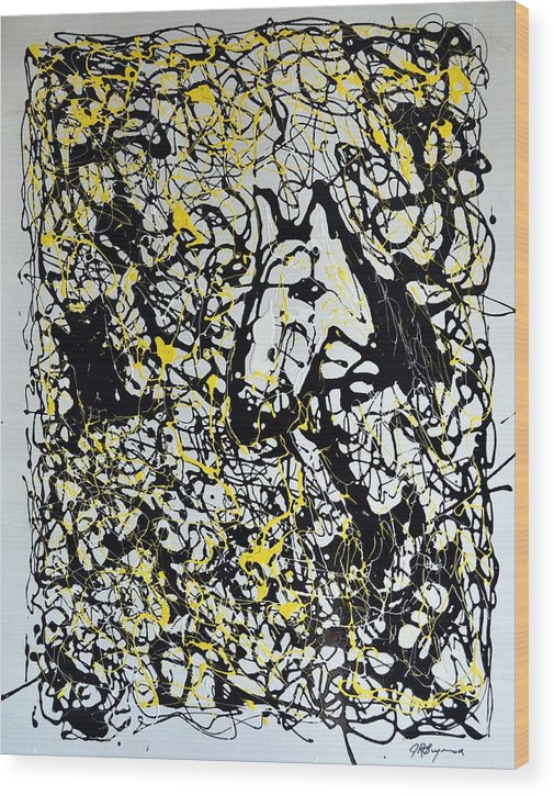 Abstract Wood Print featuring the painting A Friendly Face by J R Seymour
