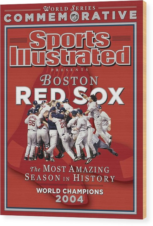 St. Louis Cardinals Wood Print featuring the photograph Boston Red Sox Vs St. Louis Cardinals, 2004 World Series Sports Illustrated Cover by Sports Illustrated