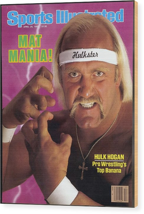 1980-1989 Wood Print featuring the photograph Hulk Hogan, Wwf Professional Wrestling Sports Illustrated Cover by Sports Illustrated