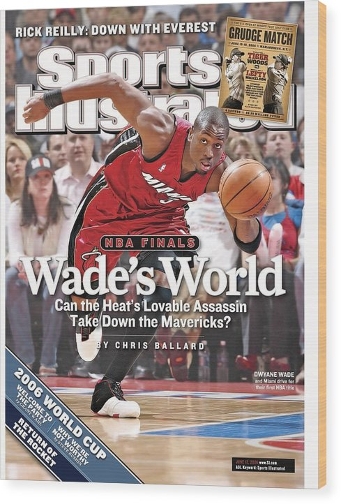 Playoffs Wood Print featuring the photograph Miami Heat Dwyane Wade, 2006 Nba Eastern Conference Finals Sports Illustrated Cover by Sports Illustrated