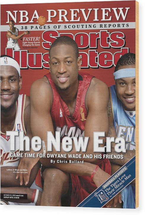 Magazine Cover Wood Print featuring the photograph Miami Heat Dwyane Wade Sports Illustrated Cover by Sports Illustrated