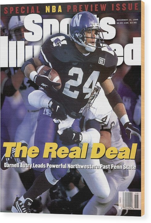 Magazine Cover Wood Print featuring the photograph Northwestern University Darnell Autry Sports Illustrated Cover by Sports Illustrated