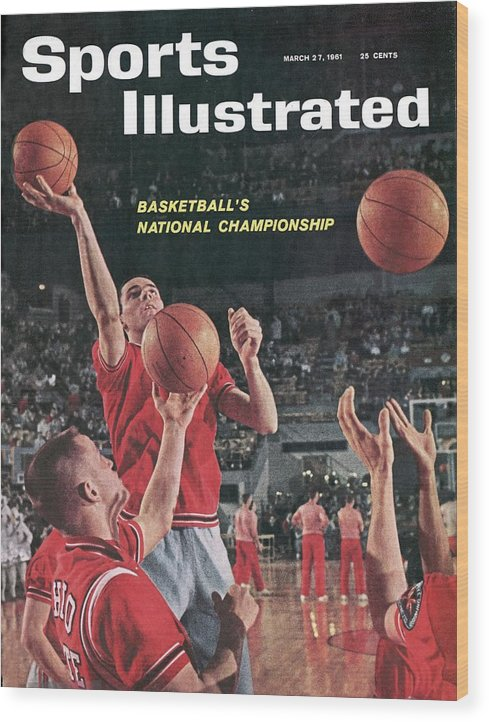 Magazine Cover Wood Print featuring the photograph Ohio State Jerry Lucas... Sports Illustrated Cover by Sports Illustrated