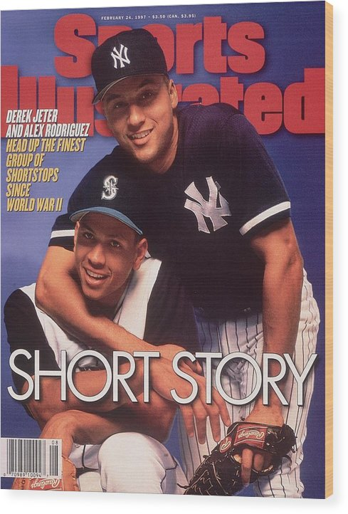 Magazine Cover Wood Print featuring the photograph Seattle Mariners Alex Rodriguez And New York Yankees Derek Sports Illustrated Cover by Sports Illustrated