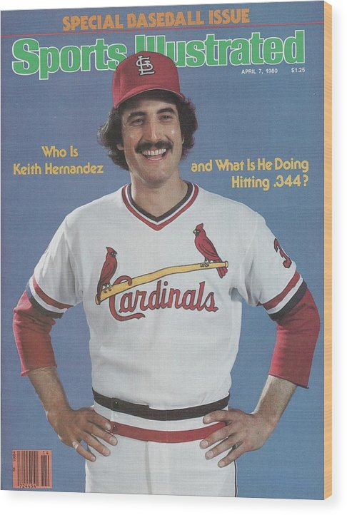St. Louis Cardinals Wood Print featuring the photograph St. Louis Cardinals Keith Hernandez Sports Illustrated Cover by Sports Illustrated