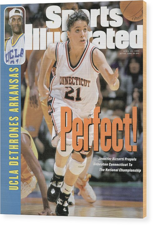 Magazine Cover Wood Print featuring the photograph University Of Connecticut Jennifer Rizzotti, 1995 Ncaa Sports Illustrated Cover by Sports Illustrated