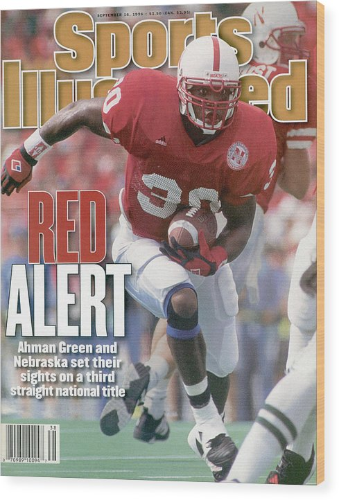 Michigan State University Wood Print featuring the photograph University Of Nebraska Ahman Green Sports Illustrated Cover by Sports Illustrated