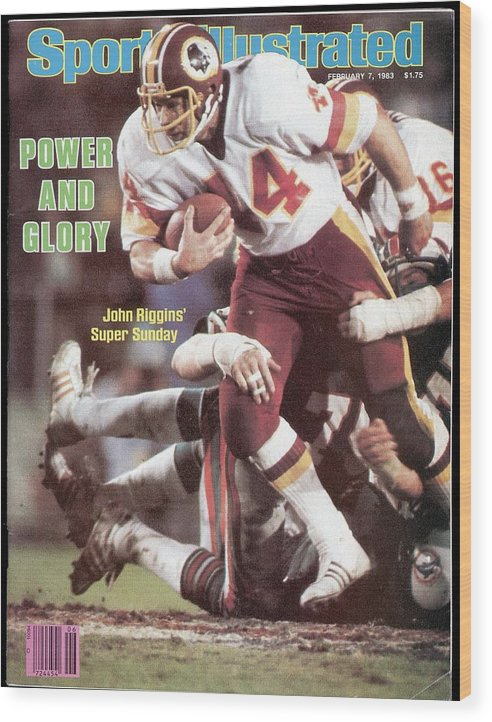 1980-1989 Wood Print featuring the photograph Washington Redskins John Riggins, Super Bowl Xvii Sports Illustrated Cover by Sports Illustrated