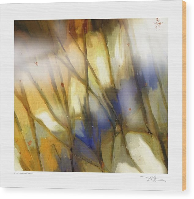 Seasons Wood Print featuring the painting Change Of The Seasons by Bob Salo