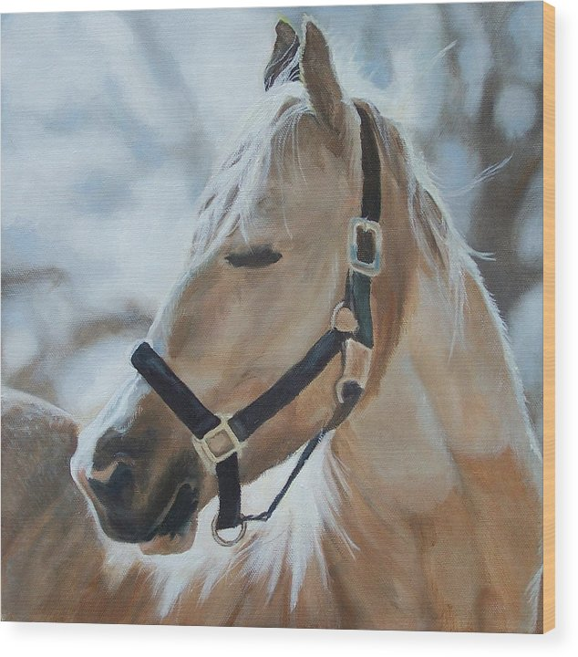 Horse Wood Print featuring the painting Gabriel by Audrie Sumner