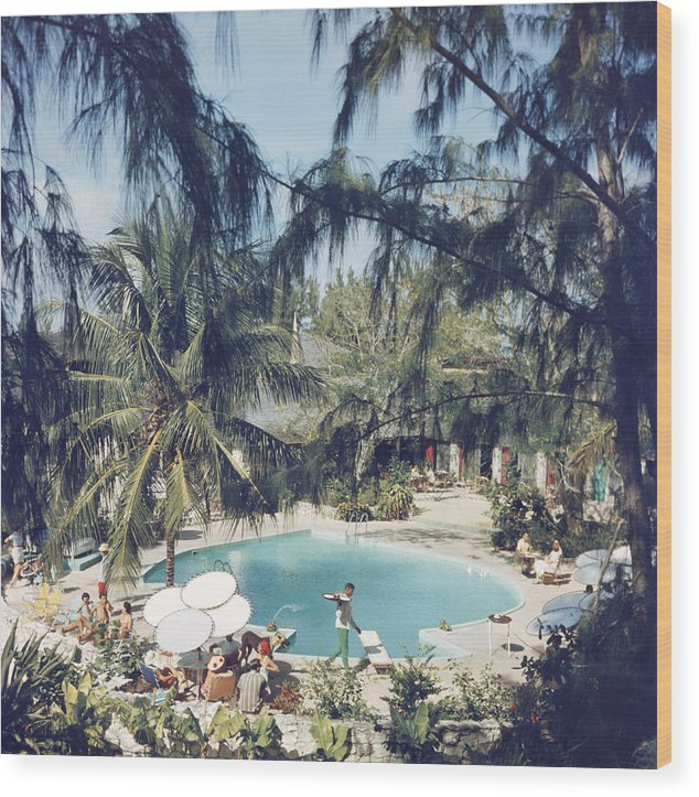 People Wood Print featuring the photograph French Leave Hotel by Slim Aarons