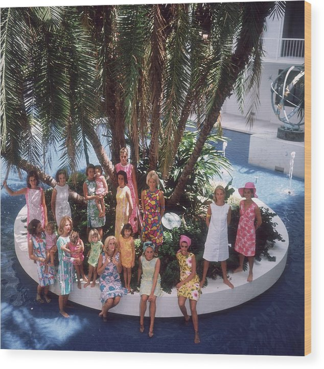 Child Wood Print featuring the photograph Pulitzer Fashions by Slim Aarons