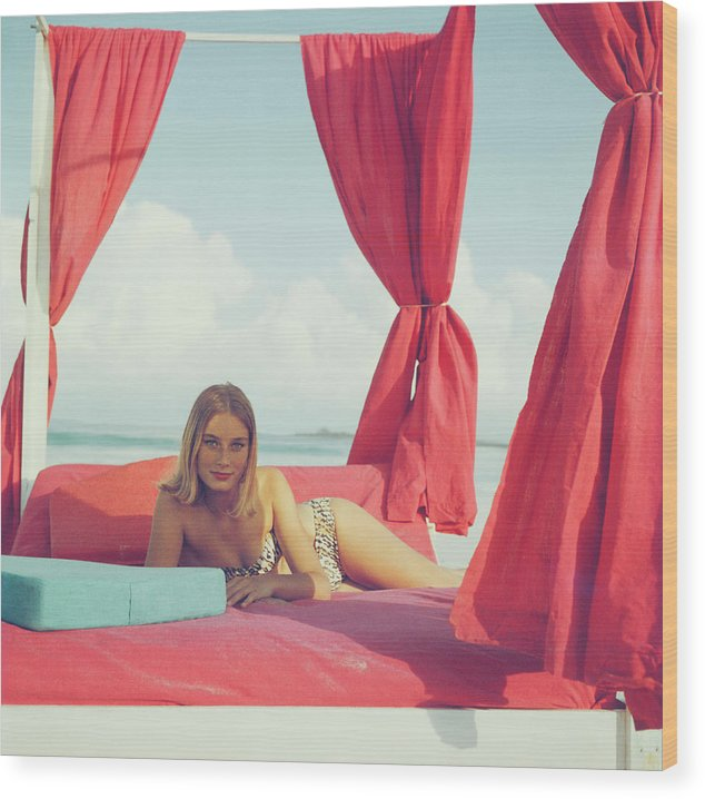 People Wood Print featuring the photograph Tania Mallet by Slim Aarons