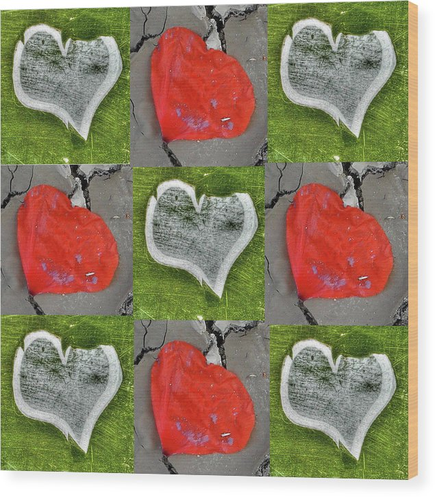 Heart Wood Print featuring the photograph Love 9 Squared by Jane James