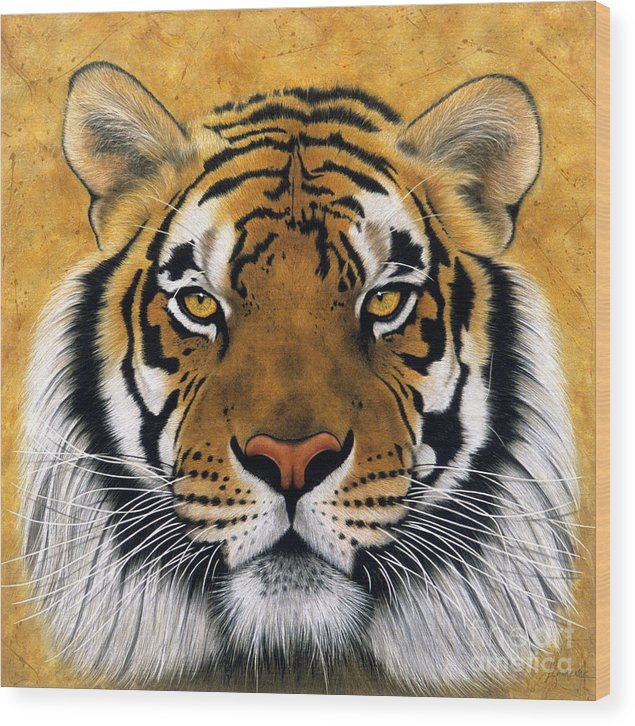 Lawrence Supino Wood Print featuring the painting Bengali II by Lawrence Supino