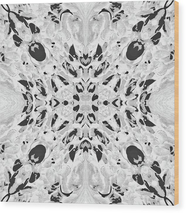 Abstract Wood Print featuring the digital art Ornament by Efrat Fass
