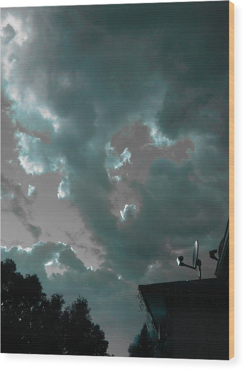 Sky Wood Print featuring the photograph Atmospheric Barcode 14 6 2008 2 by Donald Burroughs