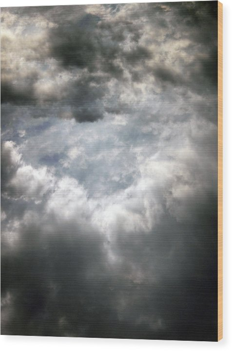Sky Wood Print featuring the photograph Sky1 by Mikael Gambitt