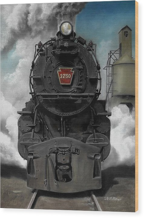 Trains Wood Print featuring the painting Smoke And Steam by David Mittner