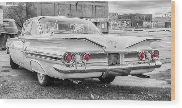 1960 Chevrolet Wood Print featuring the photograph 1960 Chevy Impala  7d08509 by Guy Whiteley