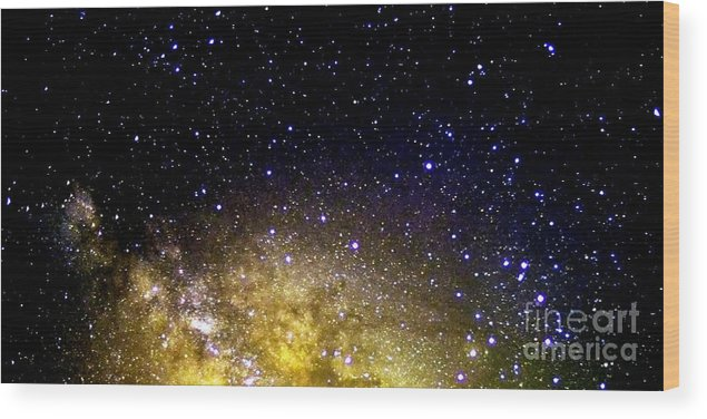 Stars Wood Print featuring the photograph Under The Milky Way by Thomas R Fletcher