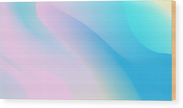 Empty Wood Print featuring the drawing Abstract Holographic Backdrop 80s, Bright Colorful Background. Trendy