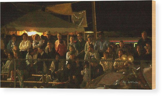 Audience Wood Print featuring the painting Anticipation by RC DeWinter