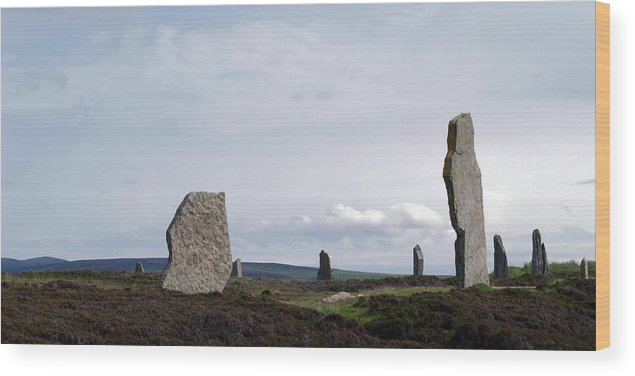 Stones Wood Print featuring the photograph At Brodgar by Steve Watson