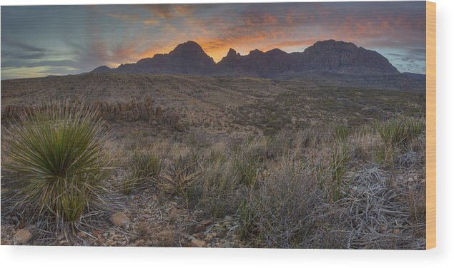 Big Bend National Park Images Wood Print featuring the photograph The Window View Of Big Bend National Park At Sunrise by Rob Greebon