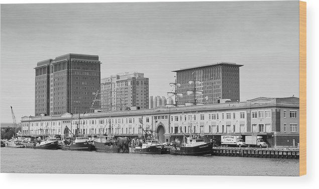 Boston Wood Print featuring the photograph Boston Fishing Fleet by Paul Treseler