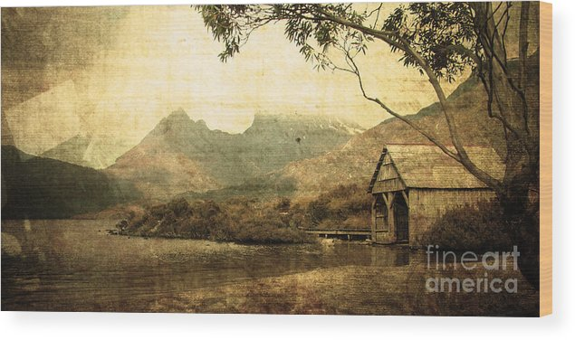 Vintage Wood Print featuring the photograph Cradled By Time by Phill Petrovic