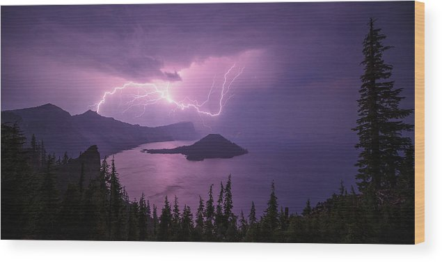 Crater Storm Wood Print featuring the photograph Crater Storm by Chad Dutson