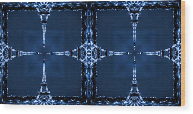 Modern Art Wood Print featuring the photograph Eiffel Art 27a by Mike McGlothlen